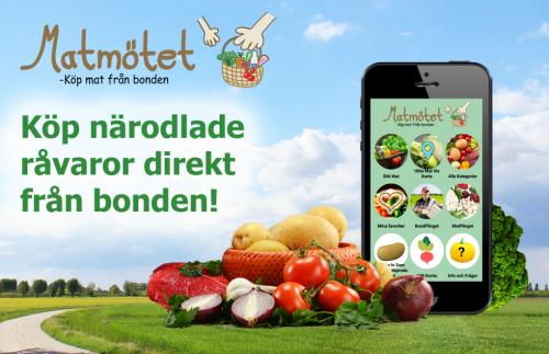 Matmötet -Köp och sälj app för närodlade råvaror, ekologiska livsmedel och KRAV-märkta matvaror!