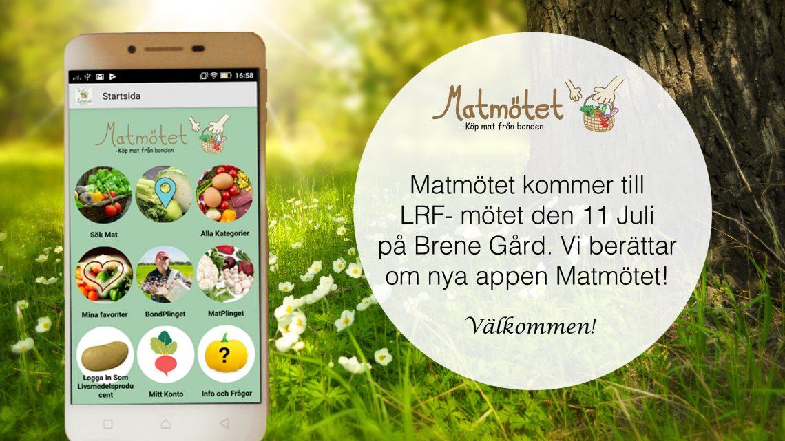 Matmötet berättar om ny app!